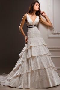 ウェディングドレス_二次会ドレス W8035