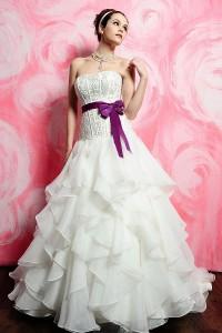 ウェディングドレス_二次会ドレス W7136