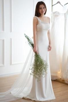ウェディングドレス_二次会ドレス W6117