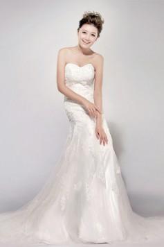 ウェディングドレス_二次会ドレス W6113