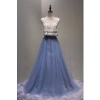 演奏会ドレスやステージドレスに人気 ロングドレスAライン_チュール C5117