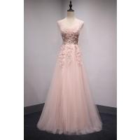 演奏会ドレスやステージドレスに人気 ロングドレスAライン_チュール C5118