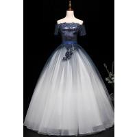ウエディングカラードレス_演奏会ドレスやステージドレスに人気 ロングドレスAライン C5123