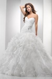 ウェディングドレス_二次会ドレス W7055