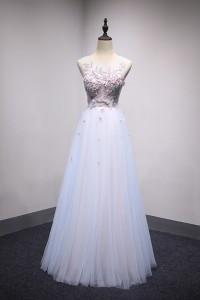 演奏会ドレスやステージドレスに人気 ロングドレスAライン_チュール C5102