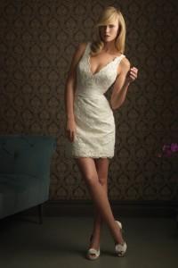 ウェディングドレス_二次会ドレス_ミニ  W7201