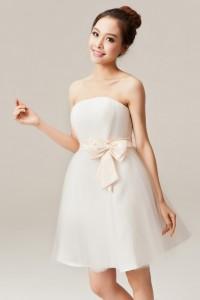 ウェディングドレス_二次会ドレス_ミニ W1367