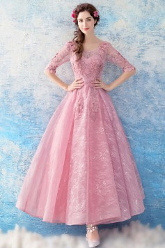 ウェディングドレス 二次会ドレス 花嫁ドレス 結婚式ドレス ウエディングカラードレス パーティードレス 演奏会ドレス ミモレ丈 ショート 袖あり W1561