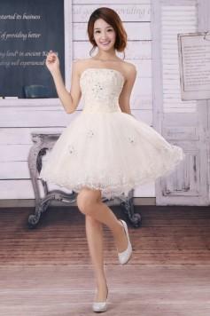 ウェディングドレス_二次会ドレス_ミニ W1376