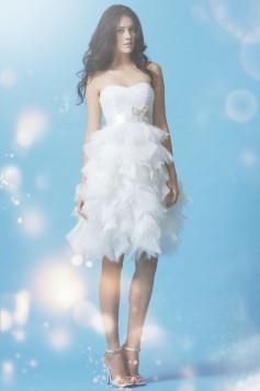 ウェディングドレス _二次会ドレス__ショート_ミニ W7148