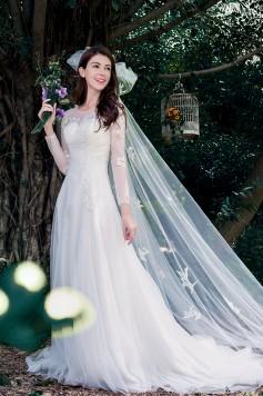 ウェディングドレス_二次会ドレス W1436