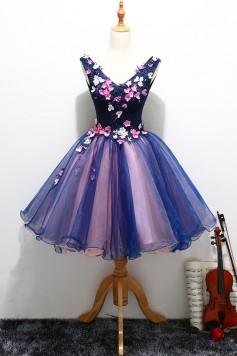 演奏会ドレスやステージドレスに人気 ロングドレス_フラワーズ_ショート_ミニ C5128